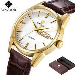 腕時計 メンズ ゴールド × ブラウン