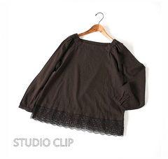 STUDIO CLIP*スタジオクリップ* 裾レースのゆったりプルオーバー♪
