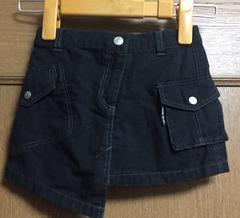 新品☆90cm☆COMME CA ISMコムサイズム黒デニムスカート