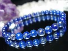 『天空の破片』天然石3Aラピスラズリ約6ミリ30粒ブレス数珠