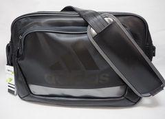 adidas アディダス ラバー エナメルバッグ ショルダーバッグ 黒