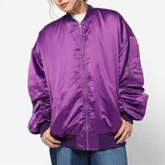 定形外込。WEGO・ビッグサイズ中綿MA-1ジャケット。パープル