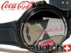 良品 1スタ★【コラボ】スウォッチ/Swatch×コカ・コーラ 腕時計