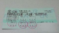 【JR 青春18きっぷ】1回分 4/3発送 返却不要【ミニレター負担】