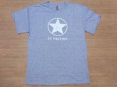 即決!USA古着●鮮やかロゴデザイン半袖TシャツM灰★ヴィンテージ
