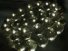 エネルギーをプラスに変換!!黒針水晶ブラックルチル14mm数珠ブレス