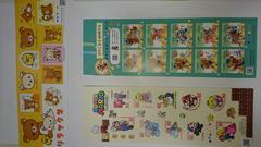 送料込★シール切手82円30シート★ぽすくま、リラックマ、マリオ