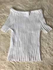 レディース   ホワイトトップス 半袖 Mサイズ