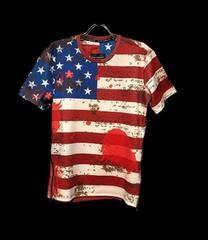 セール新品アメリカ星条旗柄★サイドジップデザイン★ナイロンTシャツl