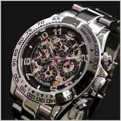 ジョンハリソン多機能両面スケルトンタイプ機械式 腕時計 新品