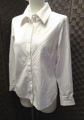■DAKS/綿100% ストライプ柄 ブラウスシャツ/サイズ11R
