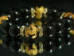 『パワーストーン専門店』黒瑪瑙ミックスAAA数珠