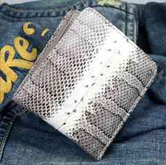 最高級のスネークスキン(本蛇革)折り財布RC-443