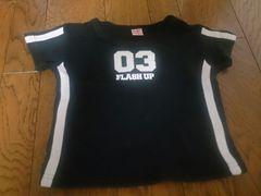 110 FLASH UP 黒のTシャツ 美品