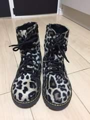 ヒョウ柄ブーツ Sサイズ