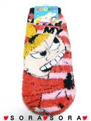 【ムーミン リトルミイ】可愛い滑り止め付♪モコモコ 靴下.ソックス 22〜24cm
