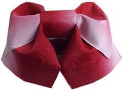 簡単浴衣結び帯付け帯作り帯赤色ぼかし桜地模様 女性用 日本製