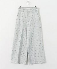 今期新作☆ドット刺繍ワイドパンツ