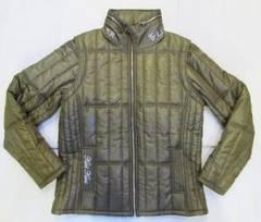AD40)KARLKANI袖脱着サーモライト中綿ジャケット オリーブ
