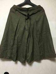 ガウチョパンツ★ズボン/カーキ/Lサイズ/67cm