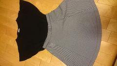 GUのカットソー&UNIQLOのスカート