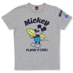 新品BABYDOLL☆ディズニー サーフミッキー Tシャツ 大人M グレー ベビードール