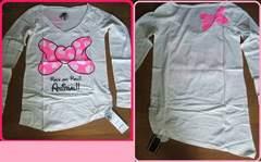 新品渋谷109購入ドクロリボンロンT定価4095円白長袖Tシャツ