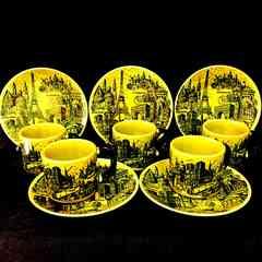 レア!未使用!パリー風景MONTMARTREカップ&ソーサー5客セット