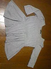 Tシャツ/長袖Tシャツ/七分/灰色/M/まとめ買い歓迎