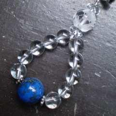 龍彫水晶xラピスラズリストラップ*1