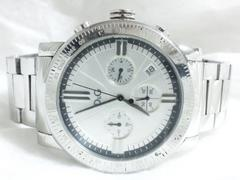 4682/ドルチェ&ガッバーナDG★定価6万円メタルスチールスポーツクロノグラフ腕時計