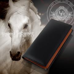 United HOMME ホースハイド×カウハイド 馬革×牛革長財布 16861