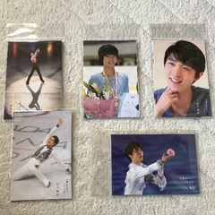 ☆羽生結弦展 オリジナル ポストカード 全5種 コンプ  25枚 新品