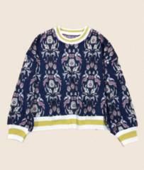フェリシモIEDIT英国ボタニカル柄ジャガードニットセーター(L)新品