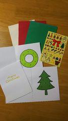 FELLISIMO フェリシモ X'mas 「オーナメントシールで飾る クリスマスカード&封筒」 セット