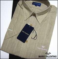 MARIO VALENTINOの半袖カッターシャツベージュm66M