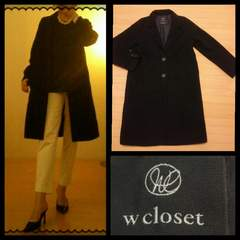 W closet☆暖か シック ノーマルライン チェスターコート F