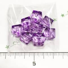 10*�@スタ*綺麗なカットプラビーズ*紫*28