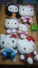 10@キティ@キティちゃんぬいぐるみ6個セット中サイズサンリオHello Kitty