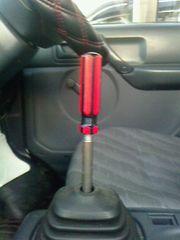 ドライバーシフトノブオリジナルM12×P1.25赤×黒自作