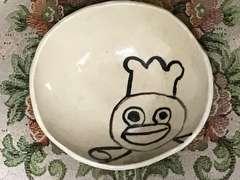 手作り陶器★小鉢ハンドメイドお皿★昭和レトロ可愛いコックさん