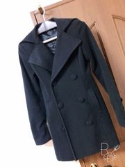 LIPSERVICE コート 黒 形キレイ