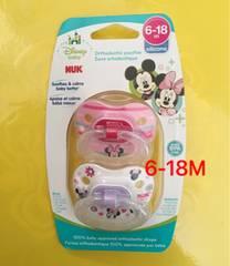 《国内未発売》6-18M NUK ミニーマウス おしゃぶり 2個セット
