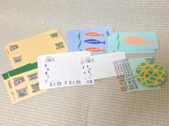 千趣会(ベルメゾン)☆ノートレット<NL-13>レターセット3種&カード・ポストカード付