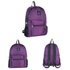 リュックサック 折り畳み リュック ナイロン エコバッグ 紫