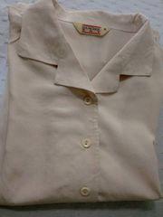 送料無料洗える絹*シルク100%女性シャツ・ブラウスMサイズ