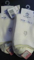 デサント、靴下2足組新品ダグ付き 22〜24 40