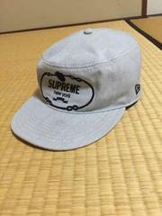 正規品 supreme x NEWERA 刺繍ロゴキャップ灰 安値即決 box logo