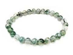 石街AAAモスアゲート約6.5mm天然石ブレスレット数珠