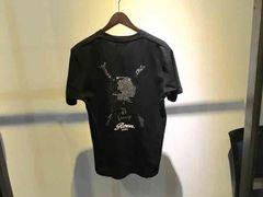 Roen ロエン スカルスタッズVネックTシャツ ブラック Lサイズ